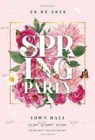 Spring Party PSD Flyer