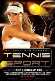 Tennis Sport Flyer Template