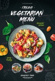 Vegetarian Menu Flyer Template