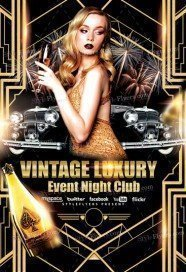Vintage Luxury Event Night Club Flyer