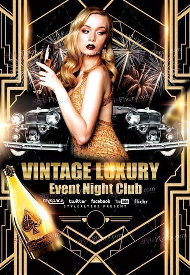 Vintage Luxury Event Night Club Flyer
