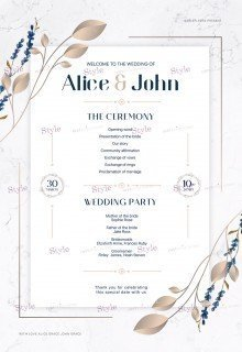 Wedding Program PSD Flyer Template