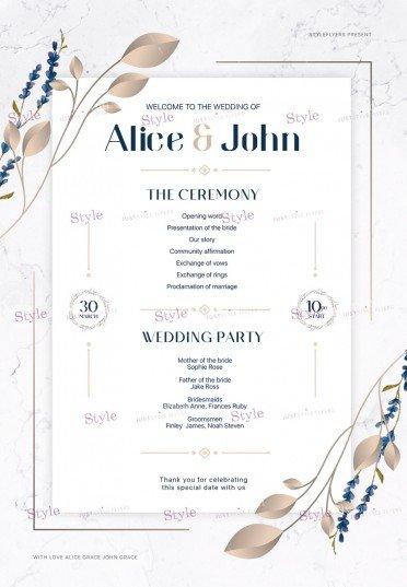 Wedding Program PSD Flyer Template