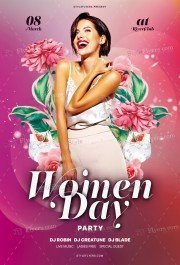 Women Day Party PSD Flyer