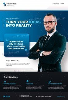 Corporate Business PSD Flyer Template