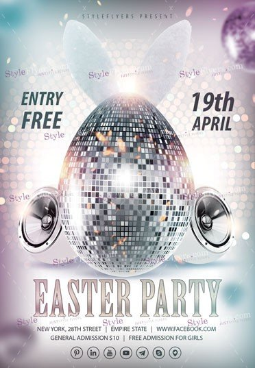 Easter Party PSD Flyer