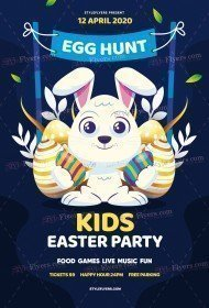 Egg Hunt Kids Easter Party PSD Flyer