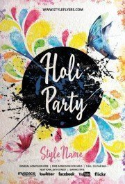 Holi Party PSD Flyer