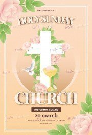 Holy Sunday Church PSD Flyer