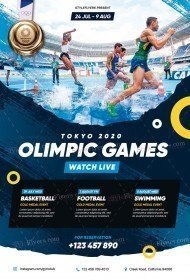 Olympic Games PSD Flyer Template