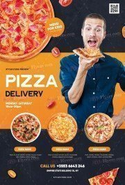 Pizza Delivery PSD Flyer