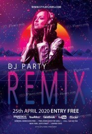 remix-dj-Party-Flyer