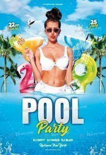 Pool Party PSD Flyer