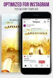 Shavuot PSD Instagram Post and Story Template
