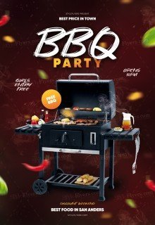 BBQ Party PSD Flyer