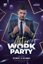 After Work Party PSD Flyer