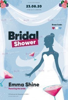 Bridal Shower PSD Flyer