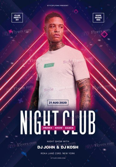 Night Club PSD Flyer