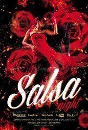 Salsa Night PSD Flyer Template