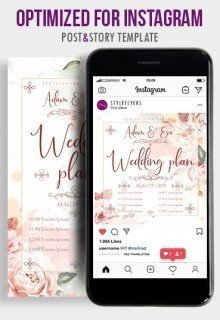 Wedding Plan History PSD Flyer Template